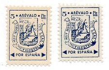 Sello Local Guerra Civil Arevalo -Cat. Galvez 71 y 71A.  ORD:29