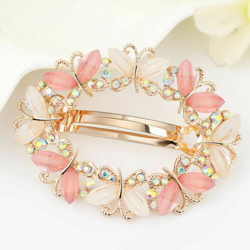 Women jewelry Girls Crystal Rhinestone Flower Barrette Hair Clip Clamp Hairpin