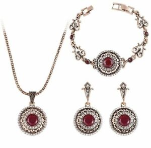 18k-Gold-Plated-Retro-Rajistan-Style-Necklace-and-Earring-Sets