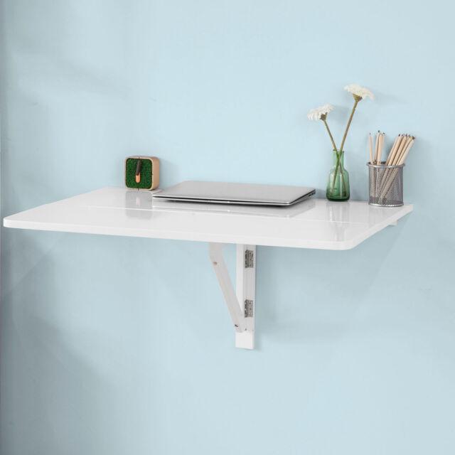 SoBuy Wandtisch Wandklapptisch Klapptisch Holz Tisch 2xklappbar 80x60cm Fwt02 weiß