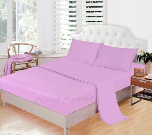 Fitted Sheets Extra Deep 25//30 cm 100/% Polycotton Single 4FT Double Super King