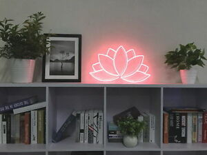 Image Is Loading New Lotus Flower Neon Sign For Bedroom Wall