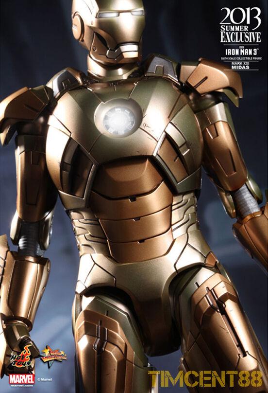 Hot Toys MMS208 Iron man 3 Midas Mark XXI 21 21 21 Tony Stark 1 6 Exclusive Opened New 9a412e
