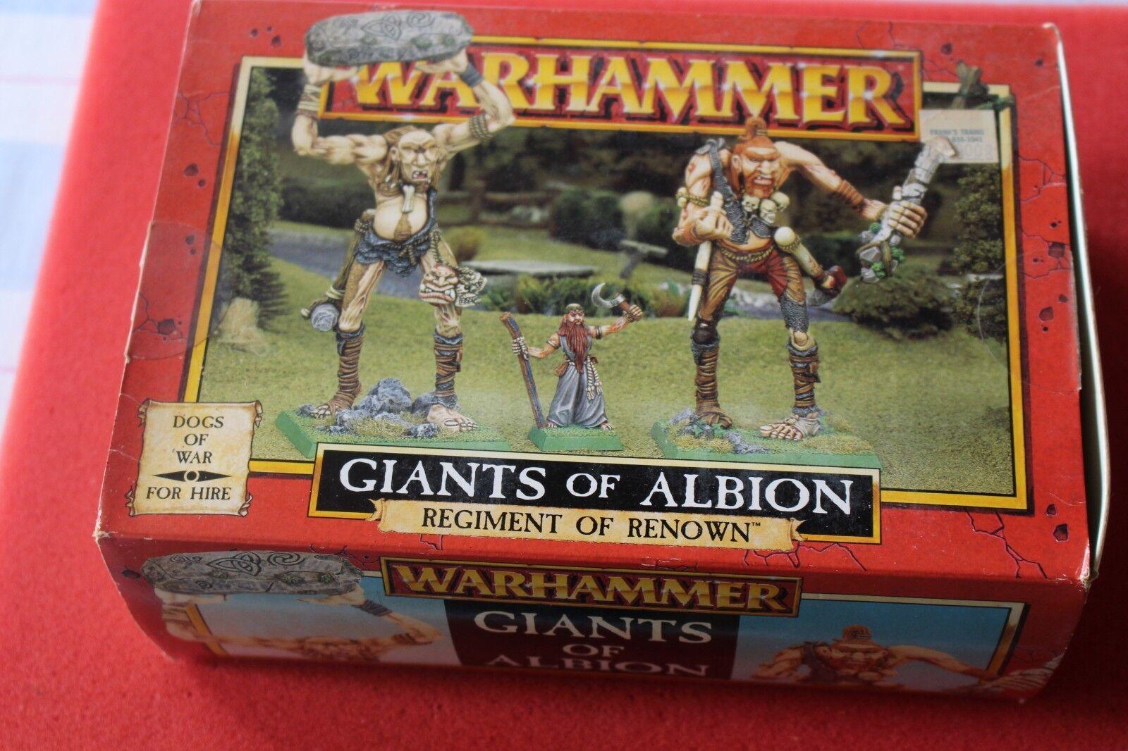 Spel arbetarhop Dogs of War Giants of Albion Warhammer lådaad Set New Metal Figur