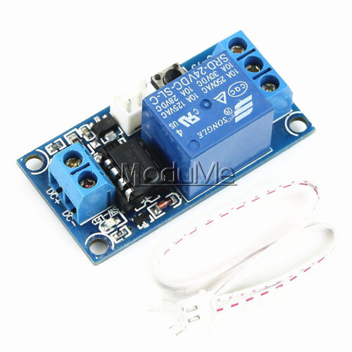 DC 5V//12V//24V 1 Channel Latching Relay Module With Touch Bistable Switch MCU