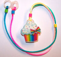 Childs 2 Sided Hearing Aids Safety Leash Loss Retainer Cord Clip .....cupcake