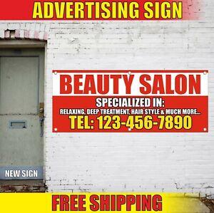 Beauty Salon Banner Advertising Vinyl Sign Flag Barber Shop Nail Hair Bar Spa Ebay