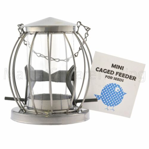 BIRD FEEDERS FOR SEED METAL CAGED MINI LANTERN SQUIRREL RESISTANT FOR WILD BIRDS