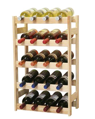 Étagère à vin bouteilles étagère à pour 20 bouteilles rw-1-20 3 couleurs