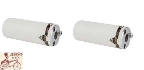 """BLACK OPS GL WHITE 3//8/""""--14mm AXLE BICYCLE PEGS--ONE PAIR"""