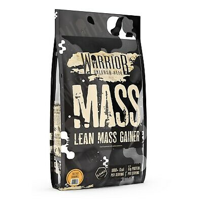 Warrior Mass Gainer 5kg Lean Muscle Weight Gain 3 Stage Protein Salted Caramel