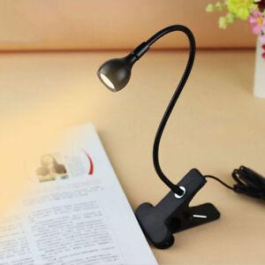 nuovo-Lampada-da-Tavolo-Luce-Lettura-Leggero-Flessibile-Led-USB-Clip-Clamp-IT
