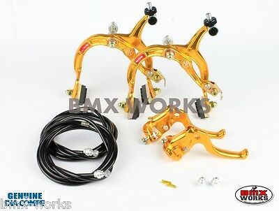 Old Vintage School BMX Dia-Compe MX1000 MX122 Gold /& Black Brake Set
