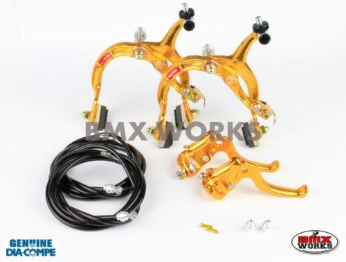 MX122 Gold /& Black Brake Set Dia-Compe MX1000 Old Vintage School BMX