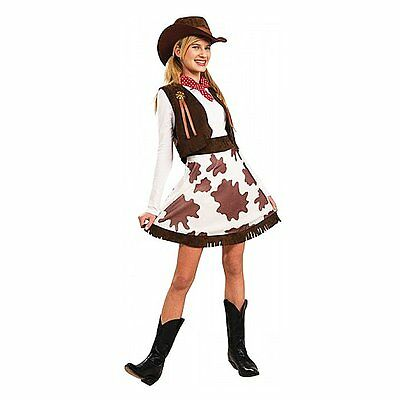 Rodeo Cowgirl Cowboy Wild West Halloween Ladies Womens Fancy Dress Party Costume