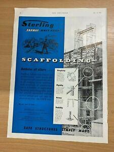 1954-Sterling-Safway-Jarrow-On-Tyne-Echafaudage-Vintage-Annonce