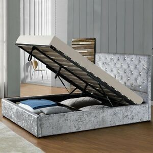 Storage Ottoman Bed Frame Double King