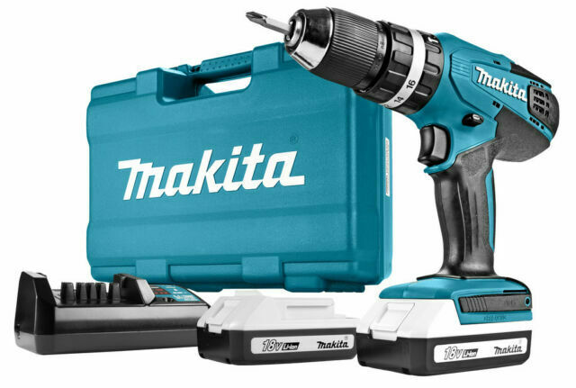 18V R 5723557 DY Makita HP457DWE10 G-Series Cordless Combi Drill 74Pc Set
