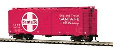 HO Scale 40' PS-1 Box Car - Santa Fe (Red) #38524 - MTH #85-74109