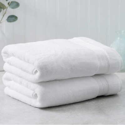 Bath Towel Set 2 Piece 100/% Hygro Cotton Soft Absorbent Bathroom 30x58 Colors