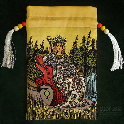 """""""The Empress"""" - silk Tarot bag"""