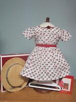 NEW American Girl Addy Summer Dress/Hat/Hanger/Pamphlet-Retired/NIB