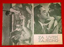 WITH YOU FOREVER 1960 EGYPTIAN SHADIA AL SHENNAWI HASSAN RAMZ EXYU MOVIE PROGRAM