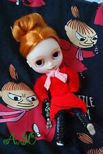 OOAK custom factory Blythe translucent skin joint body art doll Moomin Little MY