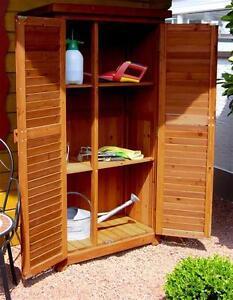 Gartenschrank Holz leco gartenschrank holz fichte honig 87x46x160cm ebay
