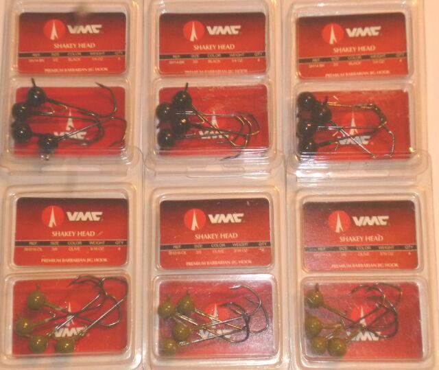 VMC Barbarian Shakey Jigs Lot of 2-Watermelon-3//16 /& 1//4-4//pk