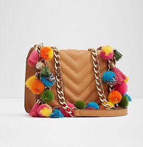 Handbag-Women-Fashion-Shoulder-Cross-Body-Bag-Chain-Handle-Tassel-Mini-Purse-New