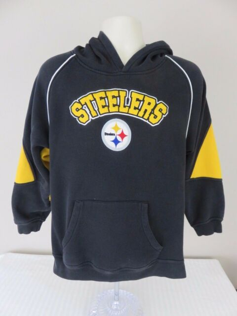 NFL Team Apparel Youth Pittsburgh Steelers Black Hoodie Pullover Sweatshirt 9b4c289b5