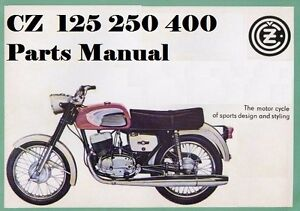 Cz Motorcycle Parts Manual For 125 250 400 980 4 981 1 984 1 984 3