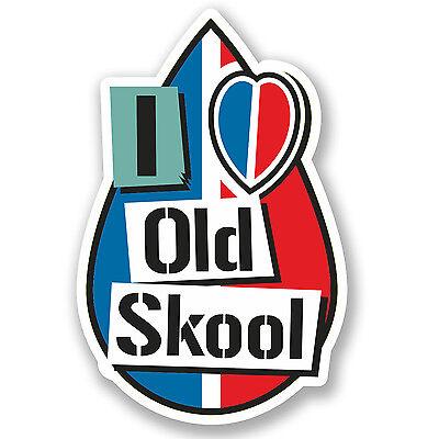 2 x 15cm I Love Old Skool Vinyl Sticker iPad Laptop Car JDM Drift Dub Euro #4935