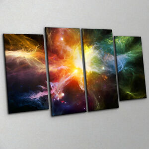 Dramatic-Deep-Space-Nebula-Canvas-Print-Wall-Art-Large-4-Piece-Multi-Coloured