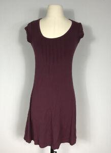 Athleta Style Purple Short Sleeve Scoop Neck Rayon Athletic Dress Women's XS