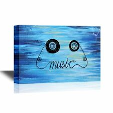 wall26 - Music Canvas Wall Art - Vintage Cassette Tape Music Concept - 12x18