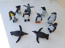 PENGUINS set of 10 figurines play / cake decorations Safari toob toys Antarctic