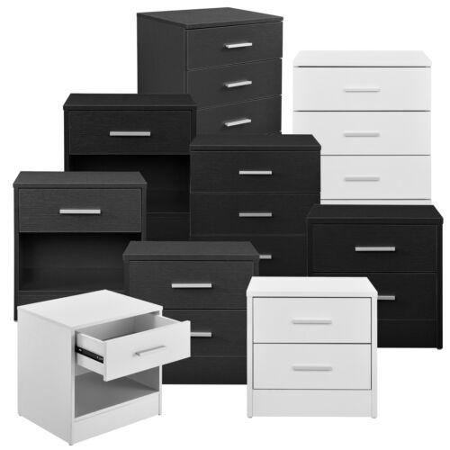 en.casa ® Nachttisch Schubladen Nachtkommode Beistelltisch Schrank Ablage Büro