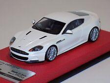 1/43 Tecnomodel Aston Martin DBS Status White / Silver wheels Leather Lim. to 2