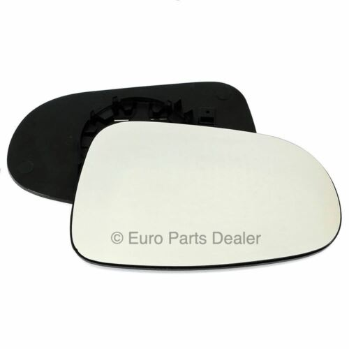 Driver Side HEATED WING DOOR MIRROR GLASS For Ford Galaxy LX 1995-2006 Clip On