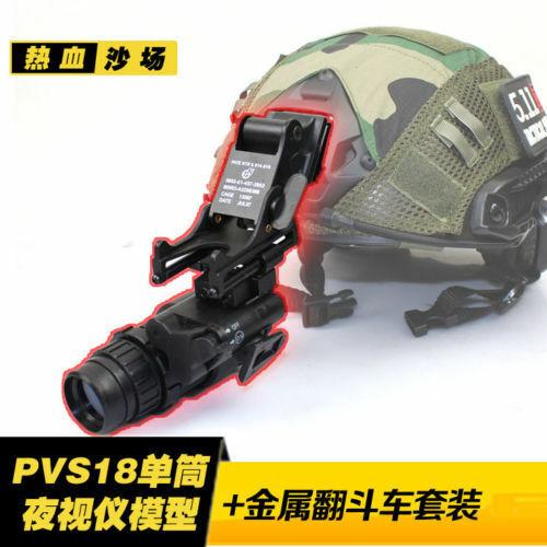 Tactical Airsoft PVS18 NVG Nightvision Goggles Model  PVS18 Metal Helmet Mount