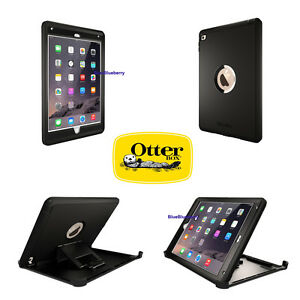 the best attitude b909d f77c6 Details about Authentic Otterbox Defender Series Black Case W/ Stand For  iPad Air 2 NEW OEM