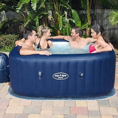 Lay-Z-Spa Hawaii AirJet Inflatable Hot Tub Spa Jacuzzi By Bestway Free Delivery