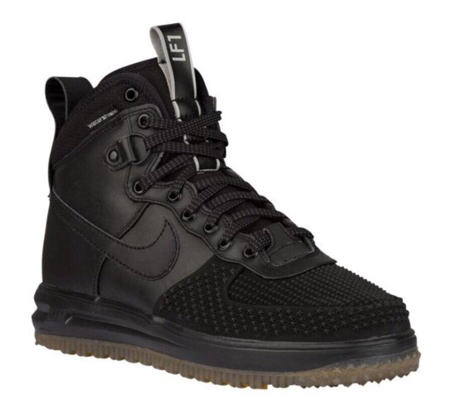 Nike Lunar Force One 1 Sneakerboot Duckboot Black Gum Bottom Wheat 805899-003 Wild casual shoes