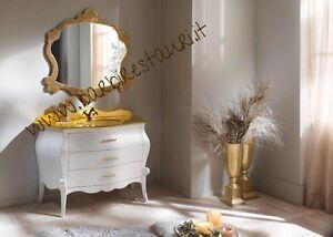 Mobile Bagno Barocco Bombato Legno Top Cristal Oro Bassorilievi ...