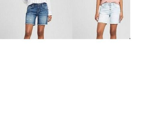 Women/'s Low Rise Boyfriend Jean Shorts Mossimo Sizes-00 or 2 or 4 NWT