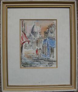 :: Paris France France Painting Signed Miniature Modern Gallery/KPM