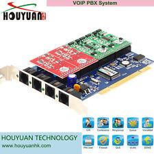 4 Port VOIP 4 Port FXO FXS card,  2FXO+2FXS Analog Asterisk Card- TDM400P