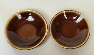 Hull-Coupe-Soup-Bowl-Brown-Drip-Mirror-Brown-USA-7-1-2-034-Set-of-Two-2